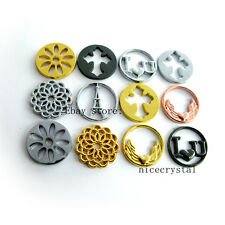 10pcs Mix Style Floating Plate For Glass Living Memory Locket Free Shipping