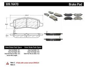 Disc Brake Pad Set-Sport Brake Pads Rear Stoptech 309.16470 fits 2013 Dodge Dart