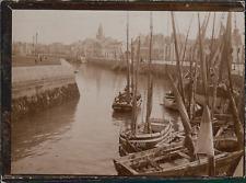 France, Le Havre, Voiliers à quai, ca.1900, Vintage citrate print Vintage citrat