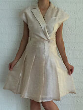 Women Short Sleeve Vanilla Formal Chic Evening Cocktail Party Dress Size 8-10-12
