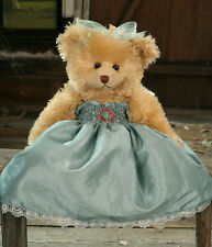 Teddy Bear Mercedes Settler Bears Handmade Green Dress Collectable Gift 38cms