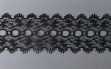 CRAFT-KNITTING-LACE 5mtrs x 35mm Black Knitting Eyelet