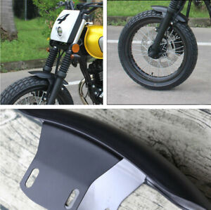 Black Iron  Front Fender Mudguard for Motorcycle Cafe Racer Dirt Bike Modified