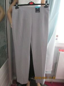 WOMEN MARKS & SPENCER CLASSIC TROUSERS LIGHT  GREY SIZE 14 NEW WITH TAG