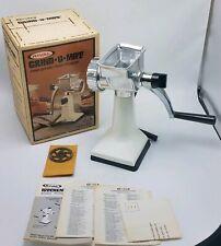 Vintage RIVAL GRIND O MAT Meat Grinder Food Chopper Model 303 Complete w Box
