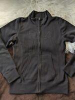 Fila F Box Fleece Sweatshirt Sweater Full Zip Mock Neck Black Size Small S