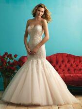 Allure Bridal Mermaid Wedding dress Style 9275 Size 6 Ivory Champagne Silver