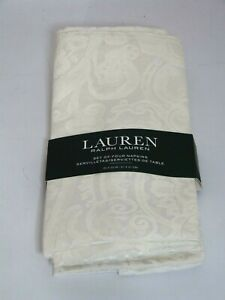 "NEW*  Beautiful 4x Ralph Lauren Paisley cotton blend napkins 20""x20"""