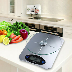 5KG DIGITAL KITCHEN SCALES GLASS PLASTIC ELECTRONIC LCD COOKING WEIGHING FOOD