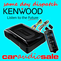 KENWOOD KSC-SW11 150 WATT COMPACT UNDER SEAT ACTIVE SUBWOOFER FREE WIRING KIT