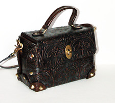 Womens Small Handbag Genuine Leather Cowhide Shoulder Messenger Bag Steampunk