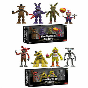 4PCS FNAF Five Nights At Freddy's Pizza Simulator 4CM Action Figures Game Toys
