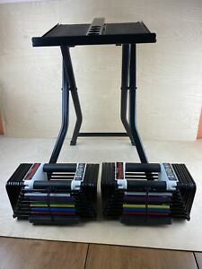 Powerblock Classic 50 Pound Adjustable Dumbell Set With Stand Excellent Conditio