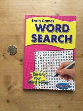 BRAIN GAMES WORDSEARCH BOOK No 9 - 144 PUZZLES - RRP £3.99 - NEW - FREE P&P
