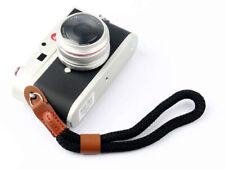 Nylon Rope Camera Hand Wrist Strap Lanyard DSLR Bridge Compact Black - UK SELLER