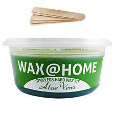 Wax@Home Stripless Microwavable Hard Wax Kit Aloe Vera 7oz. 200ml