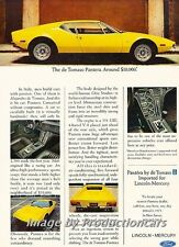 1973 1972 deTomaso Pantera Ford -  Original Advertisement Print Art Car Ad J767