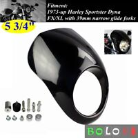 Motorcycle Headlight Fairing Windshield Kit For 1973-UP Harley Sportster Dyna