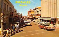 Nogales Arizona~Morley Avenue~Kress~Franklin's~JJ Newberry~Policeman~1950s Cars