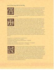Book of Shadows Spell Pages ** How To Find any Star In the Sky ** Wicca