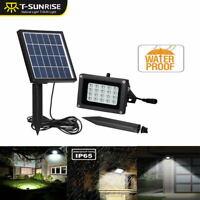 Solar Panel 10W 6000K LED Security Wall Flood Light Outdoor Garden Yard Lamp