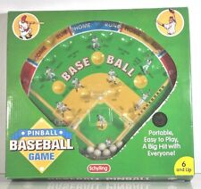 2001 PORTABLE METAL PINBALL BASEBALL GAME BY SCHYLLING TABLE TOP GAME IN BOX 12X