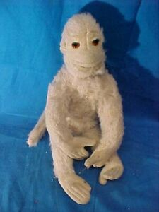 "Vintage SCHUCO 9"" Stuffed Toy SPIDER MONKEY Gray MOHAIR Made in Germany"
