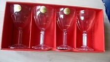 VTG Set 4 Cristal d'arques President 24% Lead Crystal Wine Glasses - Boxed.