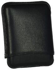 MARTIN WESS DANTE BLACK COWHIDE/ GOATSKIN LEATHER CIGARILLO CASE ** NEW **