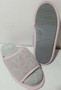 Dearfoams Woman's S 5-6 Gel Infused Memory Foam Cloud Step Open Toe Slippers
