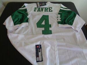 BRETT FAVRE New York JETS Football REEBOK Sewn Size 56 Jersey NFL White NEW