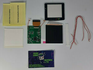 IPS Backlight LCD Screen Game Boy Color GBC Retro Pixel Enabled Larger Screen