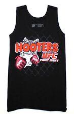 NEW! HOOTERS UFC FIGHT NIGHT XX-SMALL XXS LYCRA BLACK UNIFORM TANK TOP