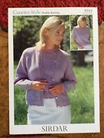 Womens knitting patterns.jumpers.cardigans.size 32-42 inch bust.DK.Sirdar.lacy
