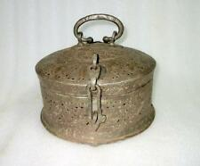 Antique 1800's Old Copper Hand Rare Mughal Islamic Carved Betel Nut Pandan Box