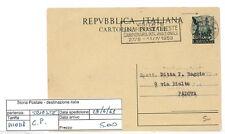 STORIA POSTALE - REPUBBLICA ISOLATI - PIII0118 - CARTOLINA POSTALE - 5.00€
