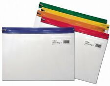 Snopake A4 Plus Zip Bags Zippi Zippa Grip Seal Bags Storage Wallets - Pack 25