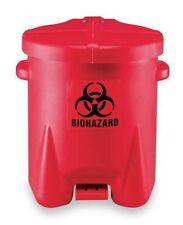 Step On Bio Hazard Waste Can, 14 Gallons, Plastic