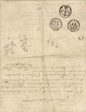 PAPIER ANCIEN PARCHEMIN ROULAGE POUR TOUS LYON MARS 1826 BILLIOUD ET RENOU