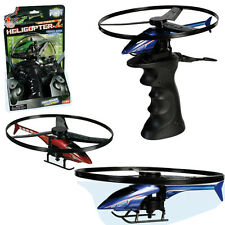 KIDS HELICOPTER WITH RIP CORD TOY CHOPPER POWER & LAUNCHING BASE FLYING FUN BOYS
