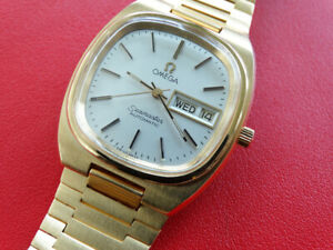 VINTAGE 1979  MEN  OMEGA  SEAMASTER  CAL 1020  AUTO   DAY DATE  GOLD  SERVICED