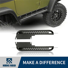 Hooke Road Rocker Guard Protection Side Step Nerf Bar for 97-06 Jeep Wrangler TJ