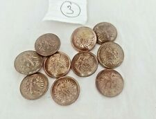 10 PCs OLD VINTAGE BEAUTIFUL DESIGN  METAL / BRASS COAT BUTTON  COLLECTIBLE