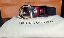 Louis Vuitton Womens Belt Burgundy 90/36 Patent Leather M6979