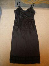 Sears The Doesnt Slip Black Polyester Full Slip Size 34