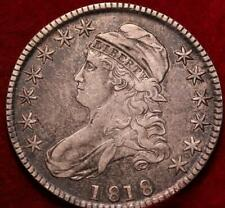 1818 Philadelphia Mint Silver Capped Bust Half Dollar