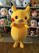 Pikachu Pokemon Adult mascot costume to a Halloween party cartoon reality show