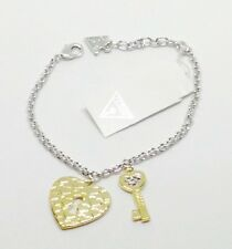 GUESS Love Keys Bracelet with Yello Gold Plated Charms (UBB83051-S)