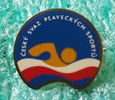CZECH SWIMMING FEDERATION OLD PIN BADGE