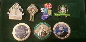 Irish History Badges x7 Set Republican Easter Rising Ireland Celtic Republic IRA